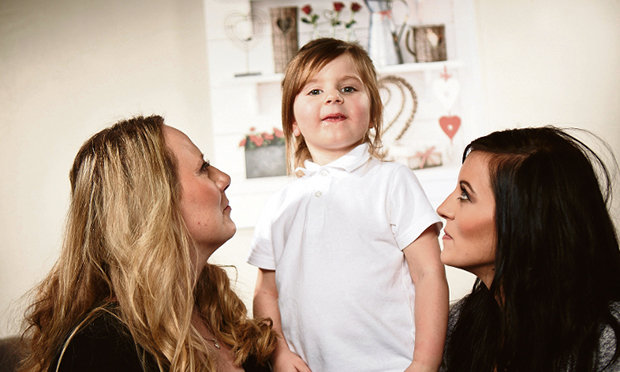 Jenny Molloy (left) with her daughter (right) and granddaughter (centre). Photograph courtesy of Jenny Molloy