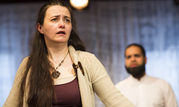 Karen Bartke and Umar Ahmed in My Name Is... Photograph: Helen Maybanks