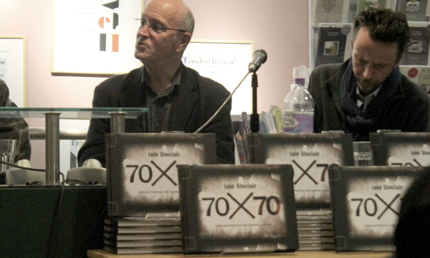 Iain Sinclair discusses cinema at LRB launch of 70x70