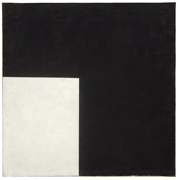 Kazimir Malevich – Black and White Suprematist Composition 1915. Image courtesy of Moderna Museet Stockholm