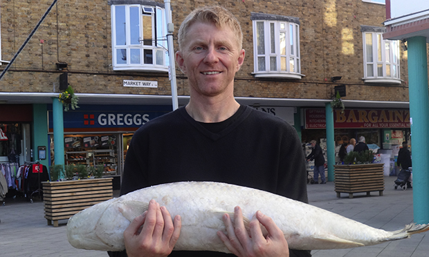Author Peter Kennedy with a fish.