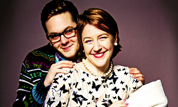 Happy family: Sean Verey and Gemma Whelan to star in Radiant Vermin at Soho theatre. Photograph: Anna Soderblom