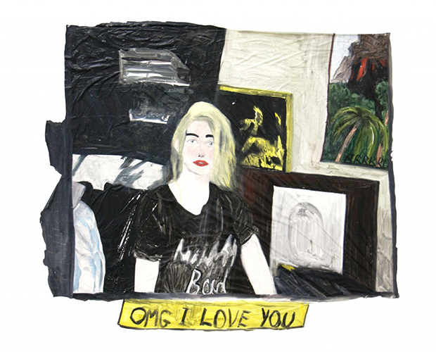 OMG I Love You by East London Painting Prize fainlist Marie Jacotey-Voyatzis