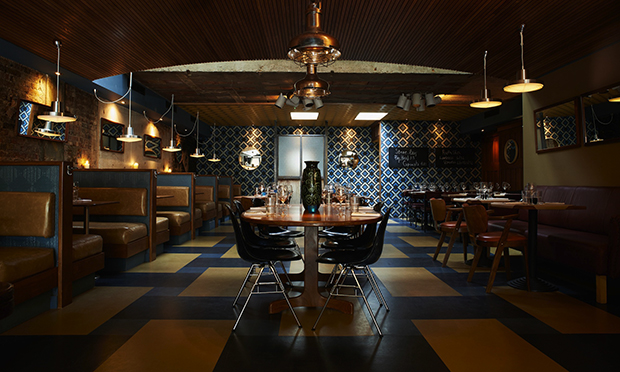 Mad Men decor: Rotorino's chic dining area