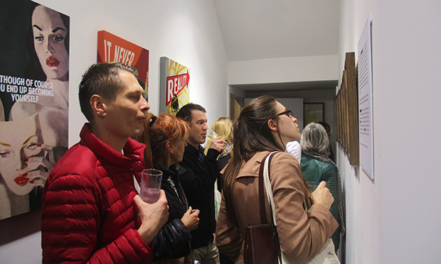 Gallery goers at So it Goes