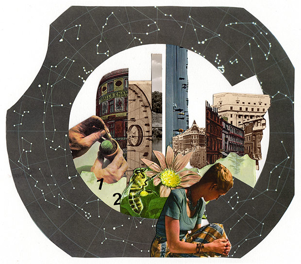 Collage by Laura Phillimore for An attempt at exhausting a place in London