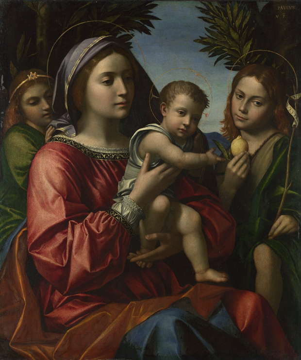 Paolo Morando, The Virgin and Child with the Baptist and an Angel, probably around 1514-18. © The National Gallery