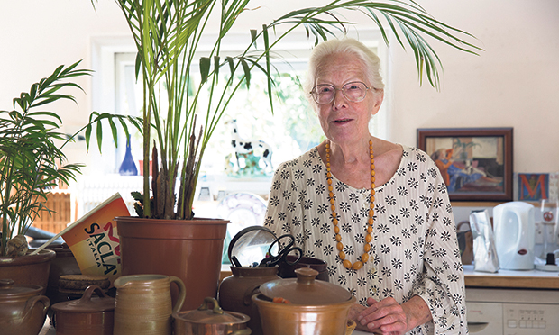 At home: Hackney Citizen food writer Gillian Riley. Photograph: Eleonore de Bonneval