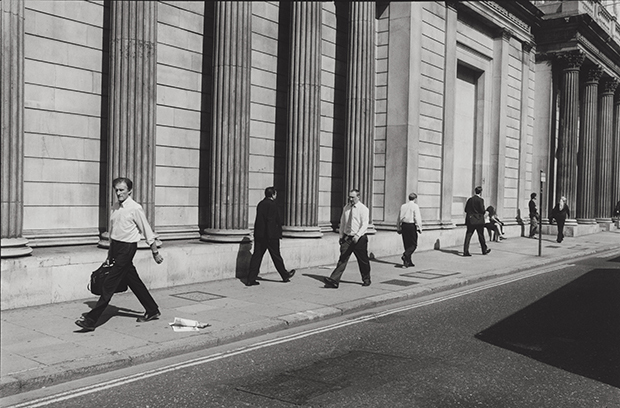 Places to go: busy office workers. Photograph: Nicholas Sack