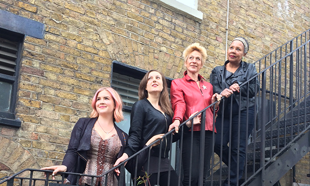Passing the baton (l-r): new artistic directors of Rosemary Branch Genevieve Taricco and Scarlett Plouviez Comnas, with founders Cecilia Darker and Cleo Sylvestre