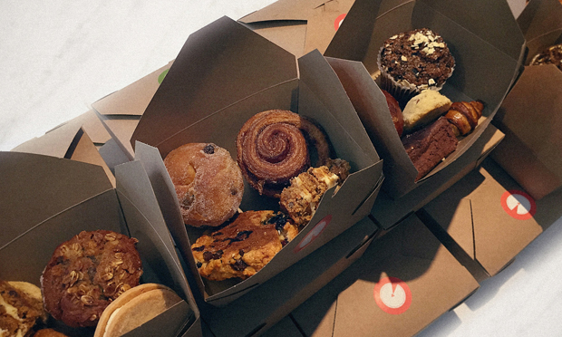 Boxes of pastries