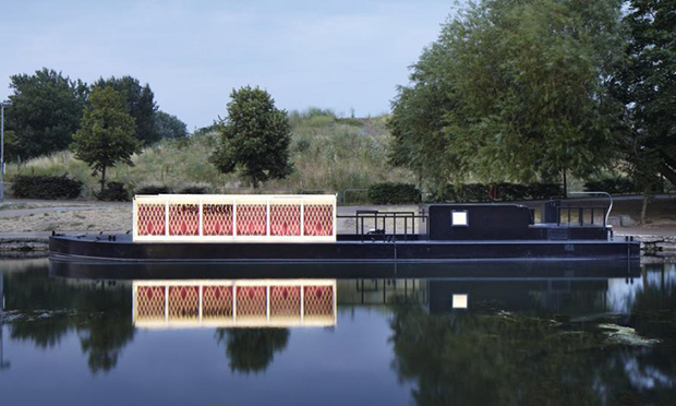 Coming soon to a flyover near you: The Floating Cinema. Photograph Floating Cinema