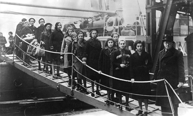 Kindertransport: Children of Polish Jews from the region between Germany and Poland on their arrival in London in February 1939. Photograph: German Federal Archive via Wikimedia Commons