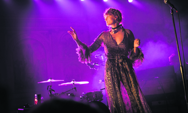Florence and the Machine live in Hackney. Photograph: Dan Dennison