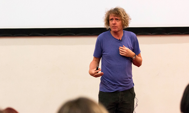 Grayson Perry speaks at UEL. Photograph: University of East London